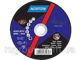 Круг абразивный отрезной NORTON VULCAN 125 x 0.8 x 22.23 T42 NOR INDUSTRIALLIN