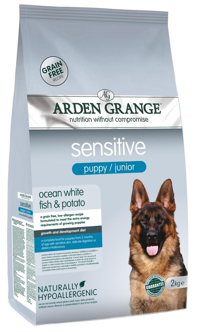Корм для щенков и молодых собак с аллергией Arden Grange Sensitive Puppy/Junior