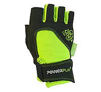 Рукавички для фітнесу PowerPlay 1728 Зелений XS