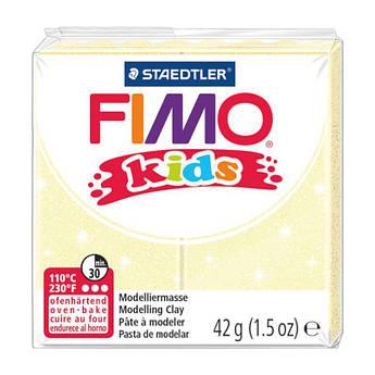 Пластика Fimo kids, Желтая перламутровая, 42г, Fimo