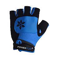 Велорукавички PowerPlay 5284 D Блакитний M