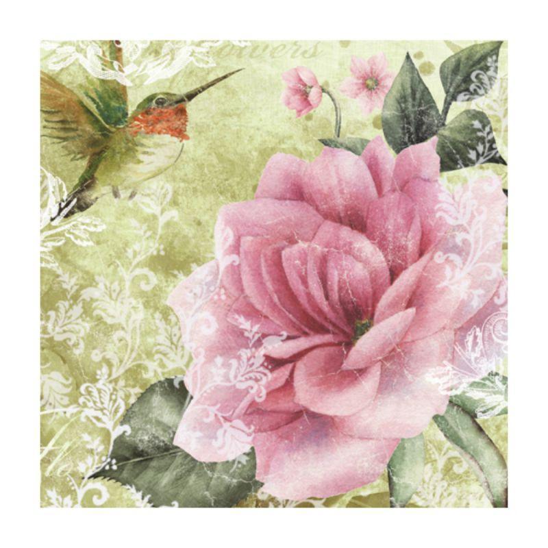 "Декупажные салфетки ""Роза"", зеленые, 33*33 см, 17,5 г/м2, ti-flair"