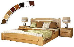 Ліжко двоспальне з підйомним механізмом з натуральної деревини буку Селена Аурі Естелла