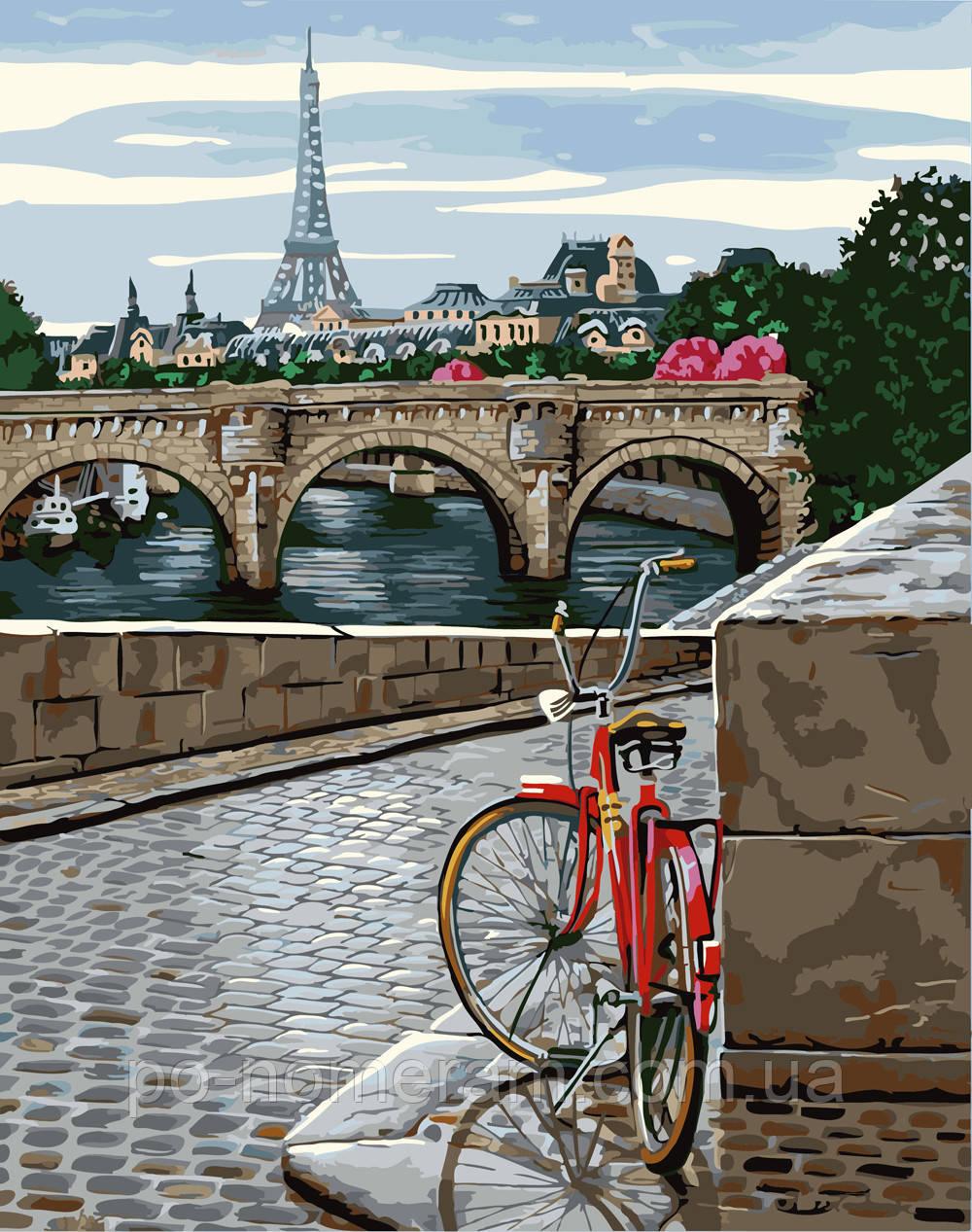 Раскраска для взрослых Прогулка по Парижу (BRM25287) 40 х ...