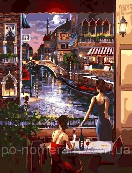 Раскраска для взрослых Вид на ночную Венецию (BRM3459) 40 ...