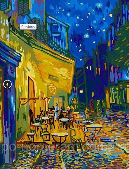 Раскраска для взрослых Ван Гог Ночная терраса кафе (BRM363 ...