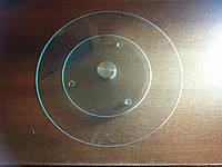 Подставка вращающаяся стеклянная прозрачная. Д 300мм, фото 1