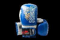 Боксерські рукавиці PowerPlay 3008 Сині PU 12 oz, фото 1