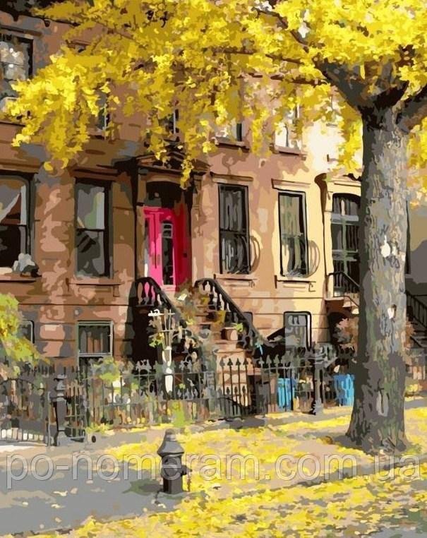 Раскраска для взрослых Осенний дворик (BRM7521) 40 х 50 см ...