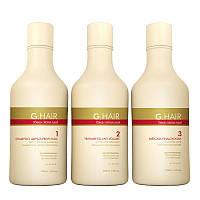 Набор для кератинового выпрямления волос Inoar G.Hair (Иноар Джи Хеир), 3х250 мл
