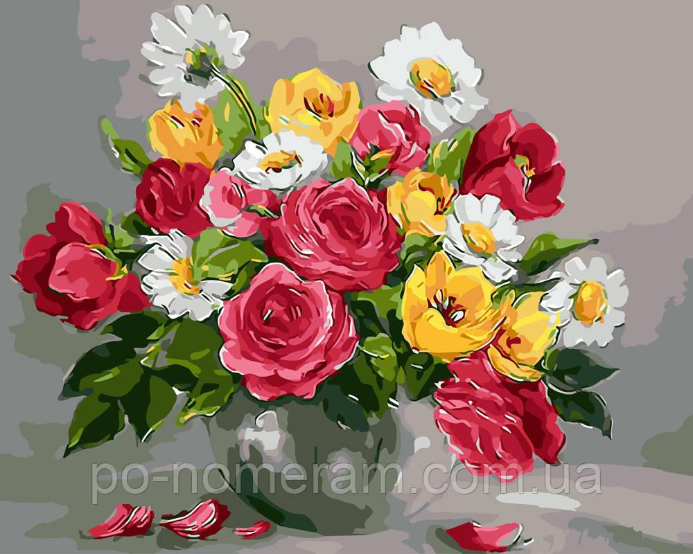 Картина раскраска Весенние цветы (BRM9445) 40 х 50 см ...