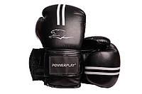 Боксерські рукавиці PowerPlay 3016 Чорні PU 10 oz, фото 1