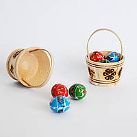 Пасхальный сувенир в мини-корзиночке. Пасхальное украшение