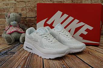 Кроссовки Classik В332 (Nike AirMax) (весна-осень, женские, кожа прессованая, белый)