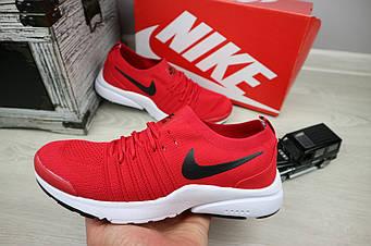 Кроссовки Classik G5043-3 (Nike AirMax)  (лето, мужские, сетка плотная, красный)