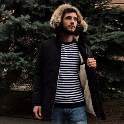 Зимняя куртка парка мужская черная водоотталкивающая Дир 19 (DEER19) от бренда Morning Star размер S, M, L