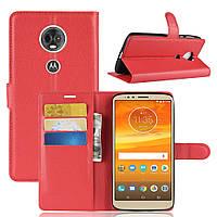 Чехол для Motorola Moto E5 Plus / XT1924-1 книжка PU-Кожа красный