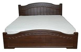 Ліжко двоспальне з ДСП/МДФ в спальню Домініка 160х200 з пружинним підйомним механізмом Неман
