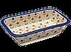 Керамическая форма для выпечки и запекания прямоугольная широкая средняя 26 х 21 Lovely floret