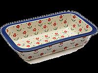 Керамическая форма для выпечки и запекания прямоугольная широкая средняя 26 х 21 Lovely floret, фото 1