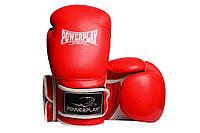 Боксерські рукавиці PowerPlay 3019 Червоні PU 14 oz, фото 1