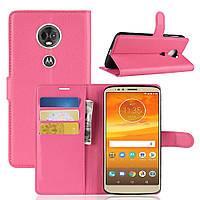 Чехол для Motorola Moto E5 Plus / XT1924-1 книжка PU-Кожа розовый