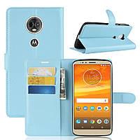 Чехол для Motorola Moto E5 Plus / XT1924-1 книжка PU-Кожа голубой