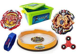 Набор BeybladeBox + Hercules + Phoenix + Арена + Led Часы + Спинер