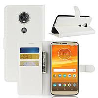 Чехол для Motorola Moto E5 Plus / XT1924-1 книжка PU-Кожа белый