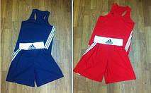 Две боксерских форм синяя + красная (майка, трусы)