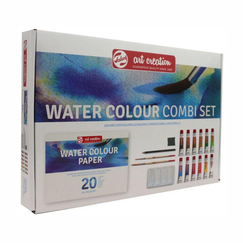 Набор акварельных красок ArtCreation Combiset, 12*12ml, склейка А4, 2 кисточки, карандаш, клячка