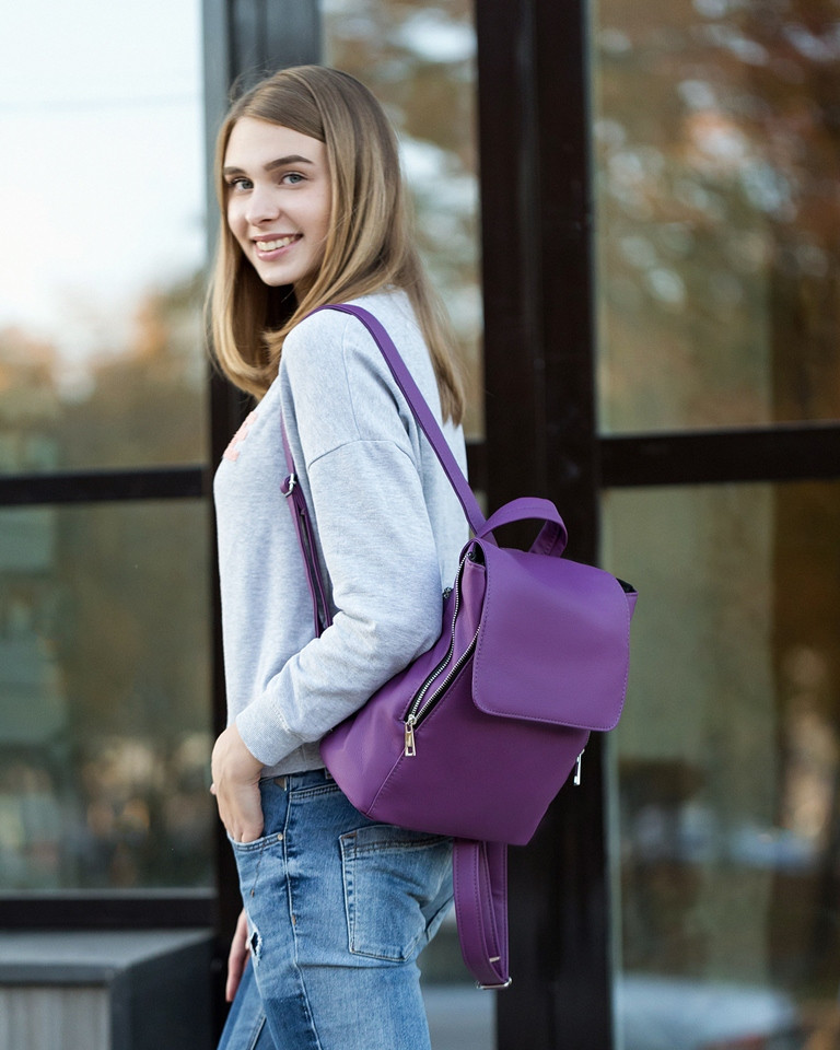 Рюкзак с клапаном фиолетовый флай, фото 1