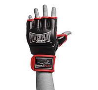 Рукавиці для MMA PowerPlay 3058 Чорно-червоні PU S, фото 1