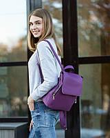 Рюкзак с клапаном фиолетовый флай c габардином и металл молнией_склад, фото 1