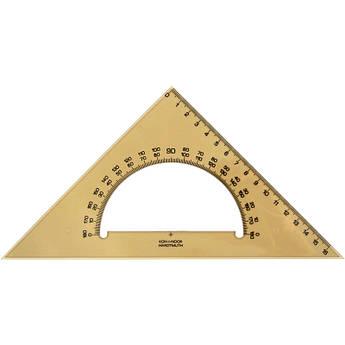 Треугольник 45/177 с транспортиром, дымчатый