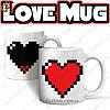"Чашка - ""Love Mug"" - чем горячее вода, тем ярче сердце!"