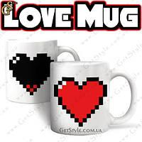 "Чашка - ""Love Mug"" - чем горячее вода, тем ярче сердце!, фото 1"