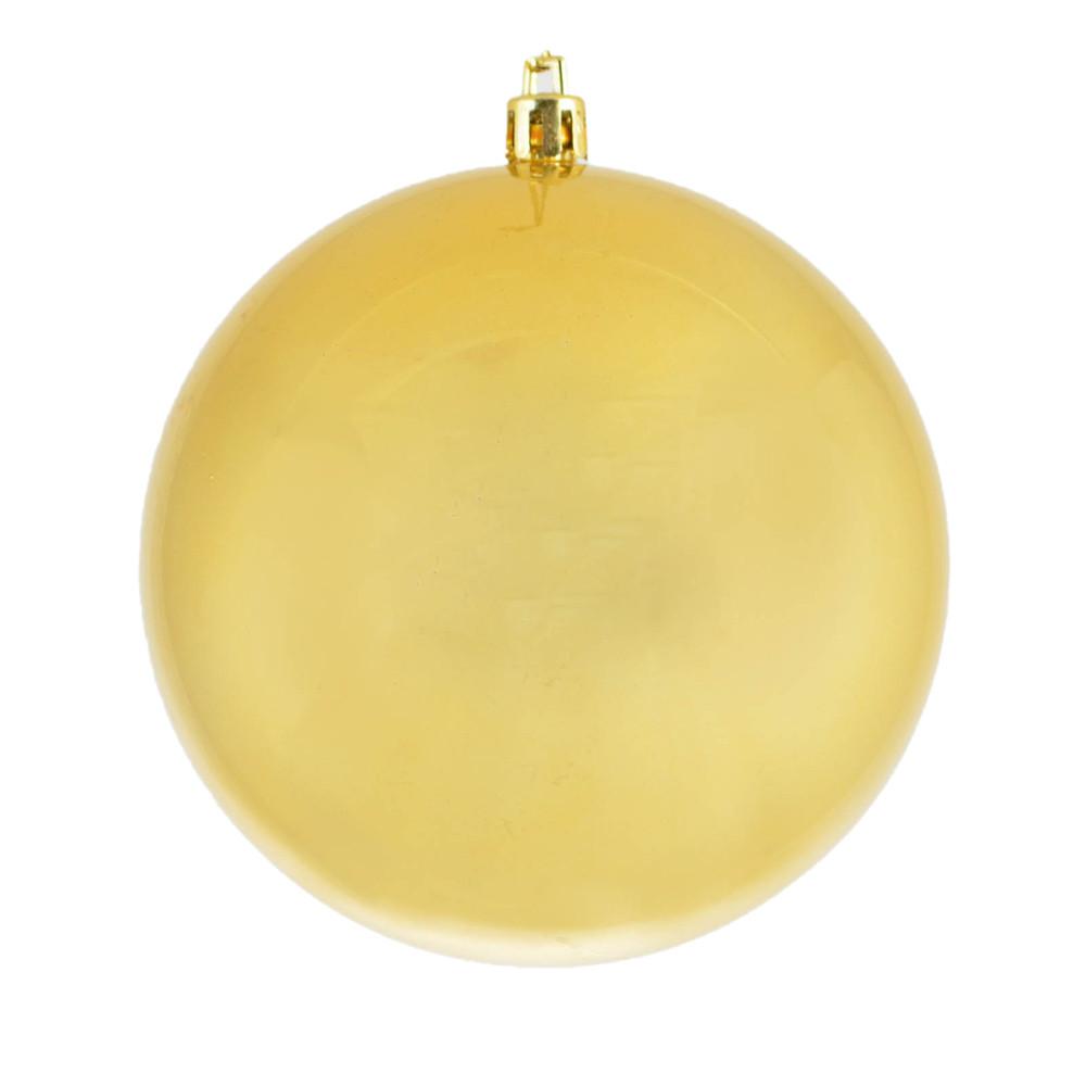 Новогодний шар золотой перламутр d-8 см.
