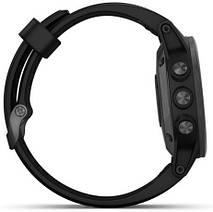 Смарт-годинник Garmin fenix 5S Plus Sapphire, Black with Black Band, фото 3