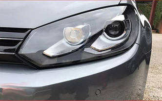 Передние фары VW Golf 6 тюнинг оптика (линза под ксенон)