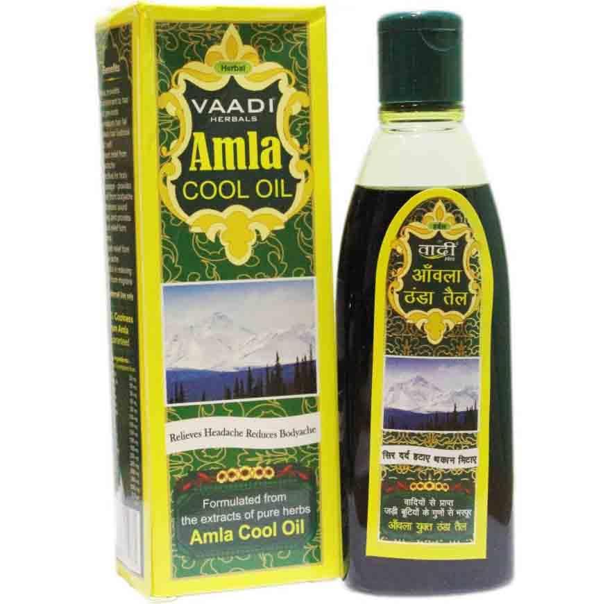 Охолоджуюча олія Triuga для масажу тіла і голови з екстрактами Брамі и Амли 100 мл
