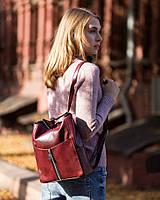 Rjet рюкзак без клапана бордо титан с габардином и металл молнией_склад, фото 1