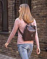 Rjet рюкзак без клапана коричневый софитель с габардином и металл молнией_склад, фото 1