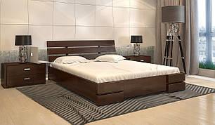 Ліжко з підйомним механізмом з дерева в спальню Далі Люкс (Сосна, Бук) Арбор Древ