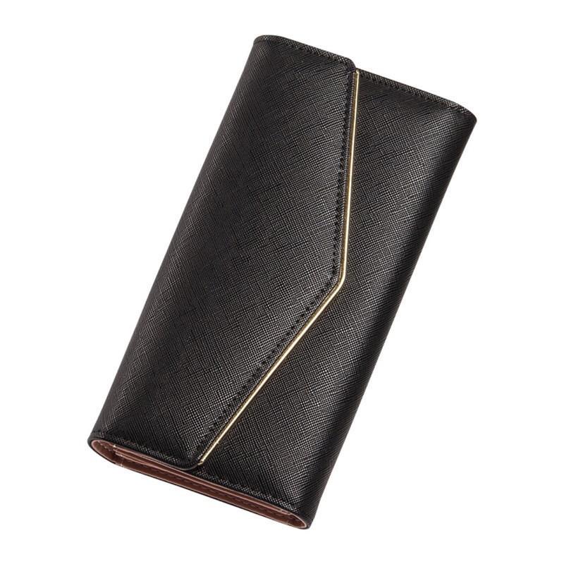 df3dd3f49041 Женский кошелек портмоне тройного сложения из экокожи черный опт ...