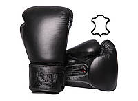 Боксерські рукавиці PowerPlay 3014 Чорні [натуральна шкіра] 14 oz, фото 1