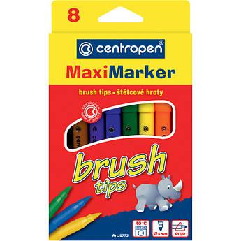 Фломастеры 8773 Brush, набор 8 шт.