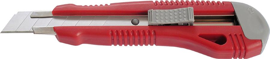 Нож канцелярский, мет. направляющие, 18 мм