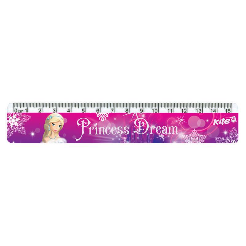 Линейка пластиковая, 15см Princess Dream