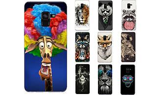 Чехол силиконовый бампер для Samsung A8 Galaxy A530 Животные